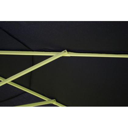 Půlkruhový zahradní slunečník - bílý - 2,7m