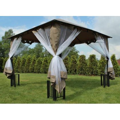 Čtvercový slunečník 8080 boční terakota 270 x 270 cm