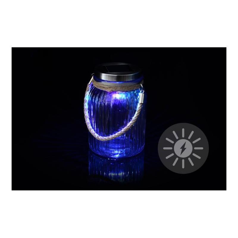 Dekorativní solární osvětlení - závěsná sklenice - LED měnící barvu