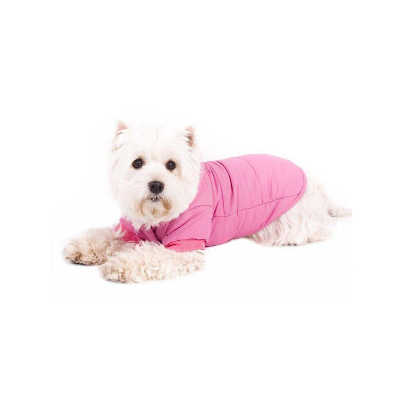 Obleček pro psa - anorak s kapucí – velikost XL růžový