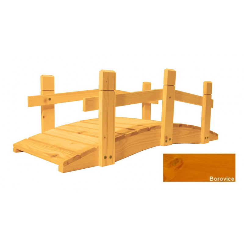 Zahradní dřevěný můstek - 71 cm - BOROVICE