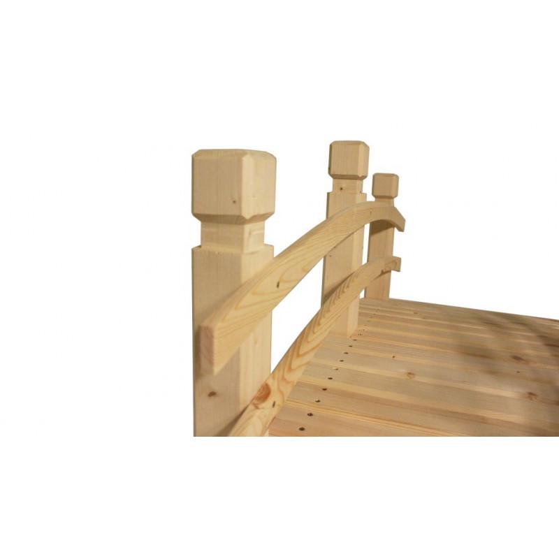 Zahradní dřevěný most - bez povrchové úpravy - 149 cm