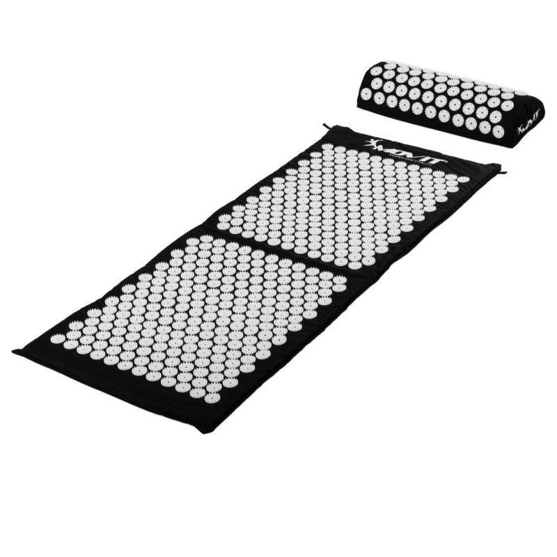 Akupresurní podložka s polštářem MOVIT 130 x 50 cm - černá