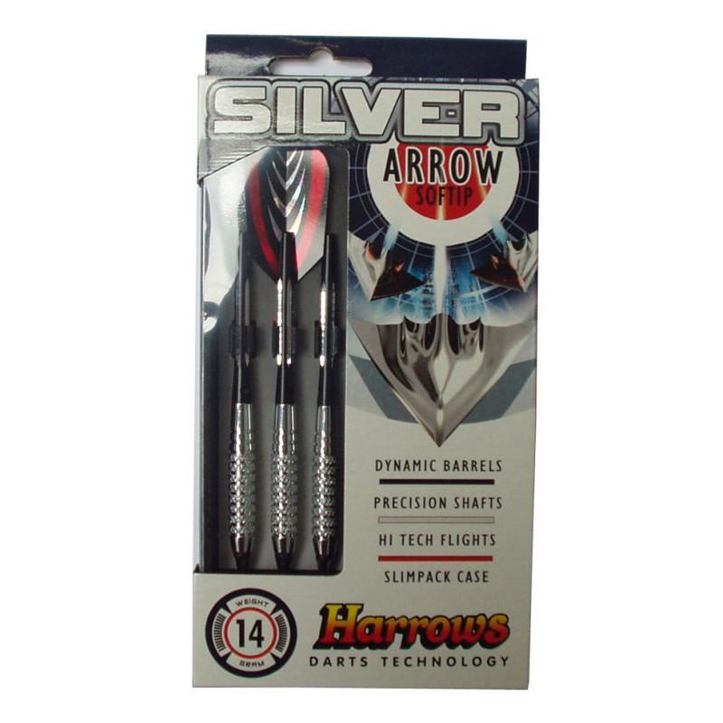 Šipky s plastovým hrotem HARROWS SOFT SILVER ARROW 18g