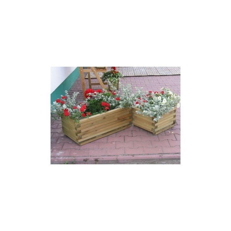 Dekorativní obdélníkový květináč malý