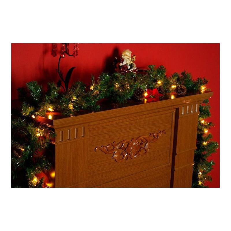 Vánoční dekorace - girlanda s osvětlením 2,7 m