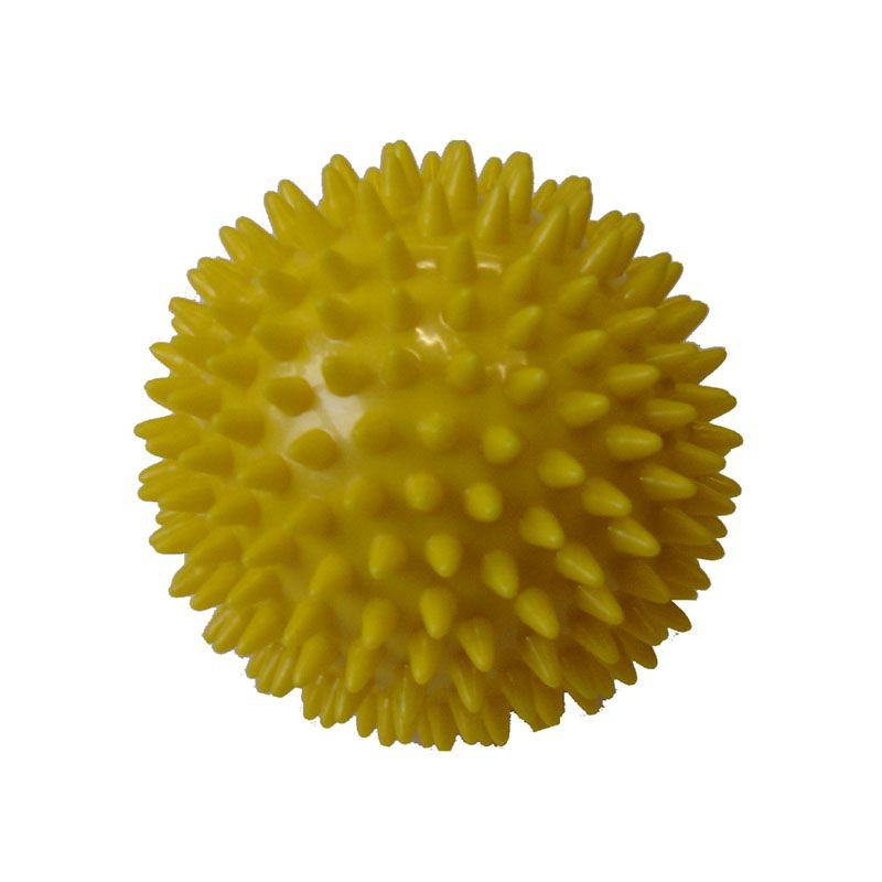 Míček masážní průměr 7,5 cm žlutý