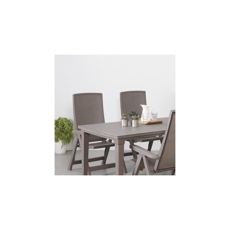 Plastový stůl FUTURA - cappuccino
