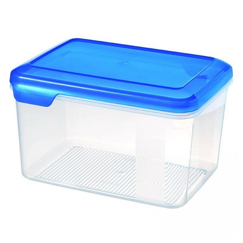 Plastová dóza FLEXI CHEF 2,4 L - modré víko CURVER
