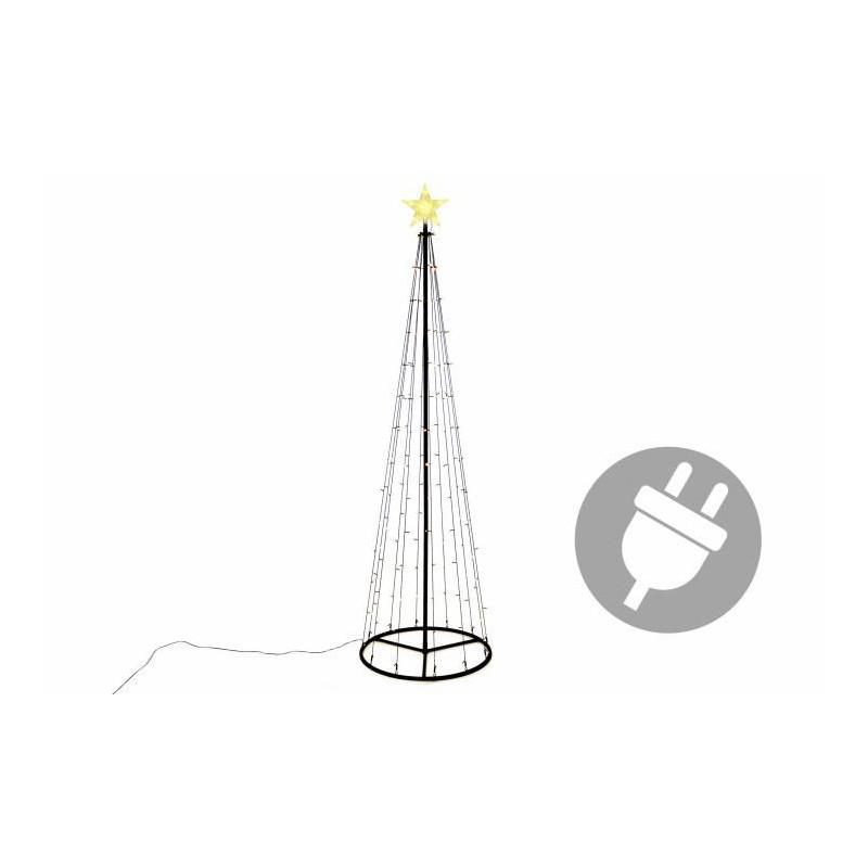 Vánoční dekorace - světelná pyramida stromek - 240 cm teple bílá