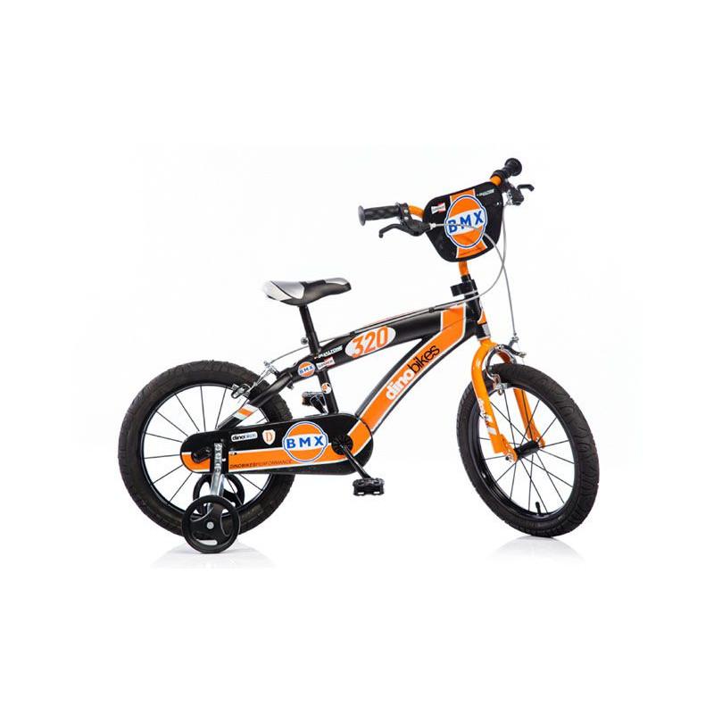 """Dino BMX 165XC černo - oranžové 16\"""" dětské kolo"""