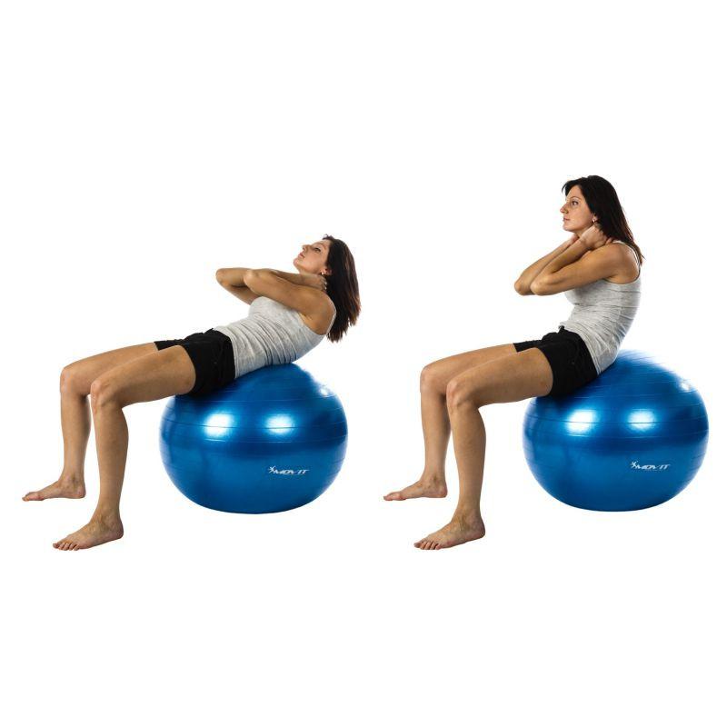 Gymnastický míč MOVIT s pumpou - 65 cm - modrá