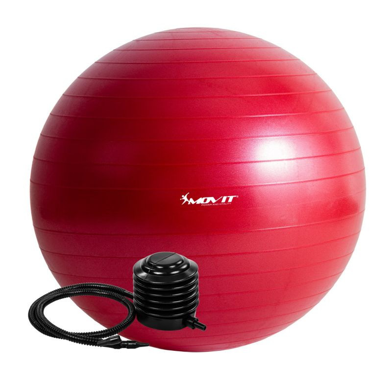 Gymnastický míč MOVIT s pumpou - 55 cm - červený