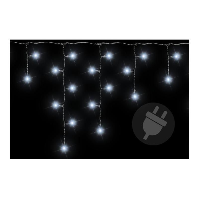 Vánoční světelný déšť 400 LED studená bílá - 7,8 m