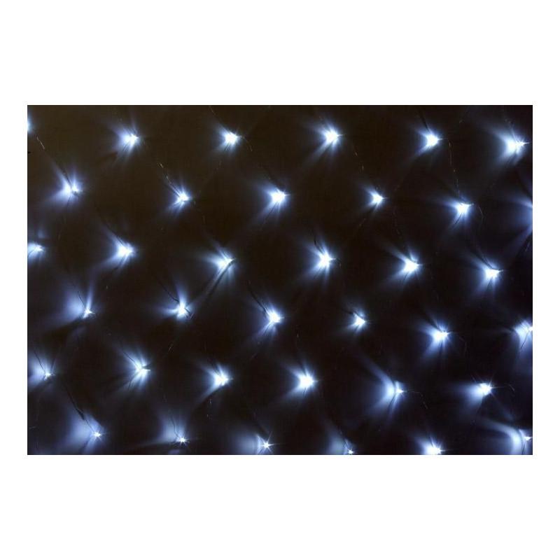 Vánoční osvětlení - světelná síť 1,5 x 1,5 m - studená bílá 100 LED