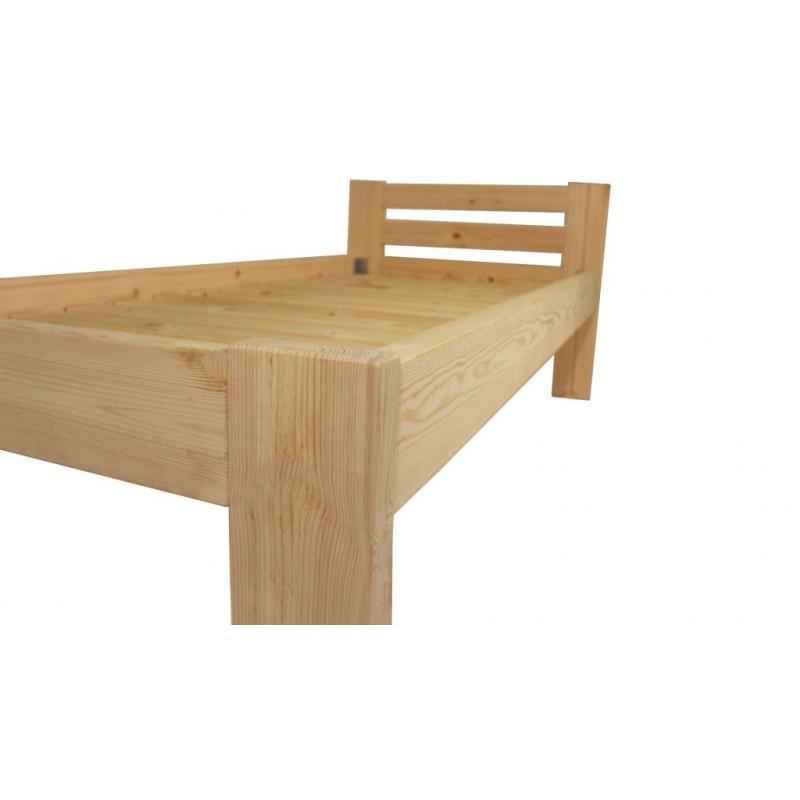 152b6bc95006 Dřevěná postel 90 x 200 cm - přírodní lak - včetně roštů