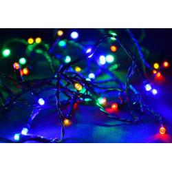 Vánoční LED osvětlení 10 m - barevné, 100 diod