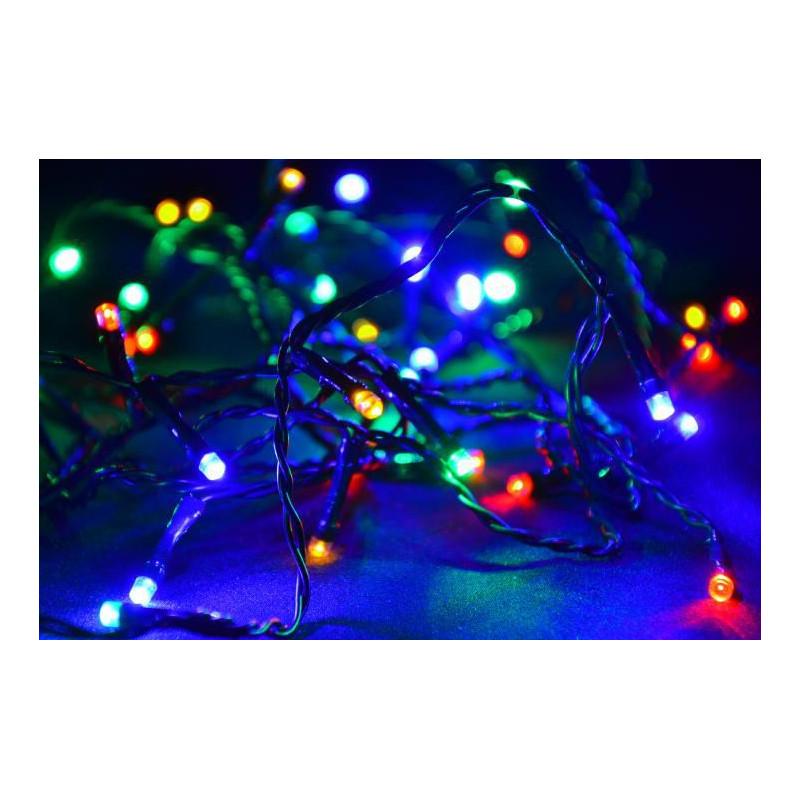 Vánoční LED osvětlení 10m - barevné, 100 diod