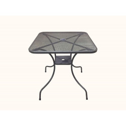 Zahradní kovový stůl ZWMT-60 - čtverec 60 x 60 cm