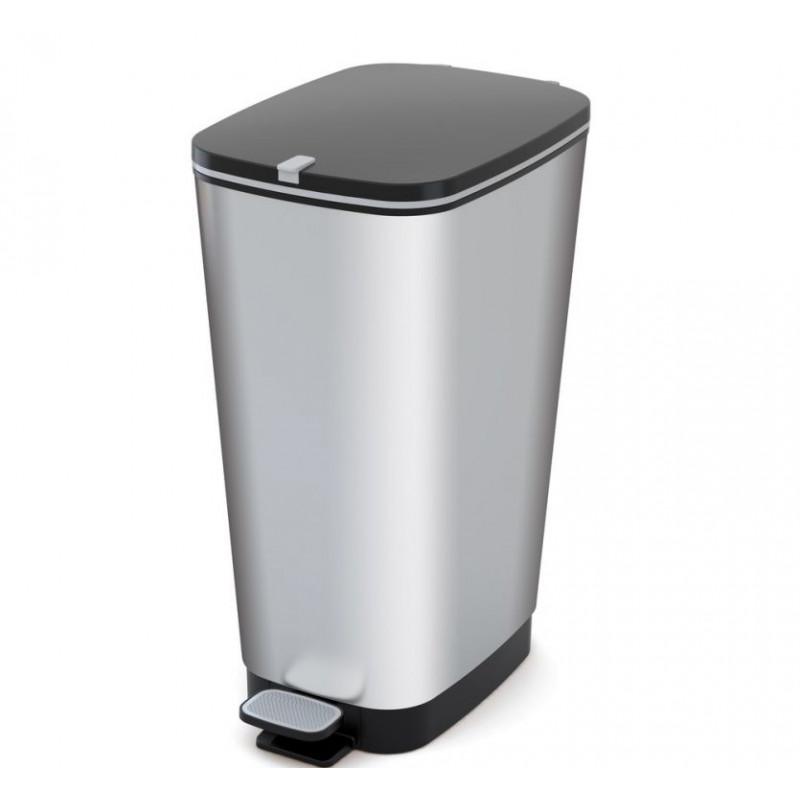 Odpadkový koš CHIC  50 L - stříbrný