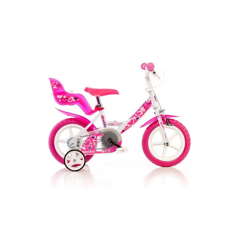 """Dětské kolo Dino Bikes bílo-růžové 12\"""""""