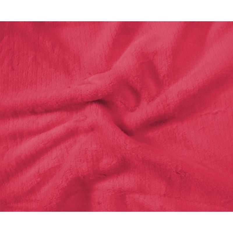 Mikroplyšové prostěradlo 180 x 200 cm- ČERVENÁ