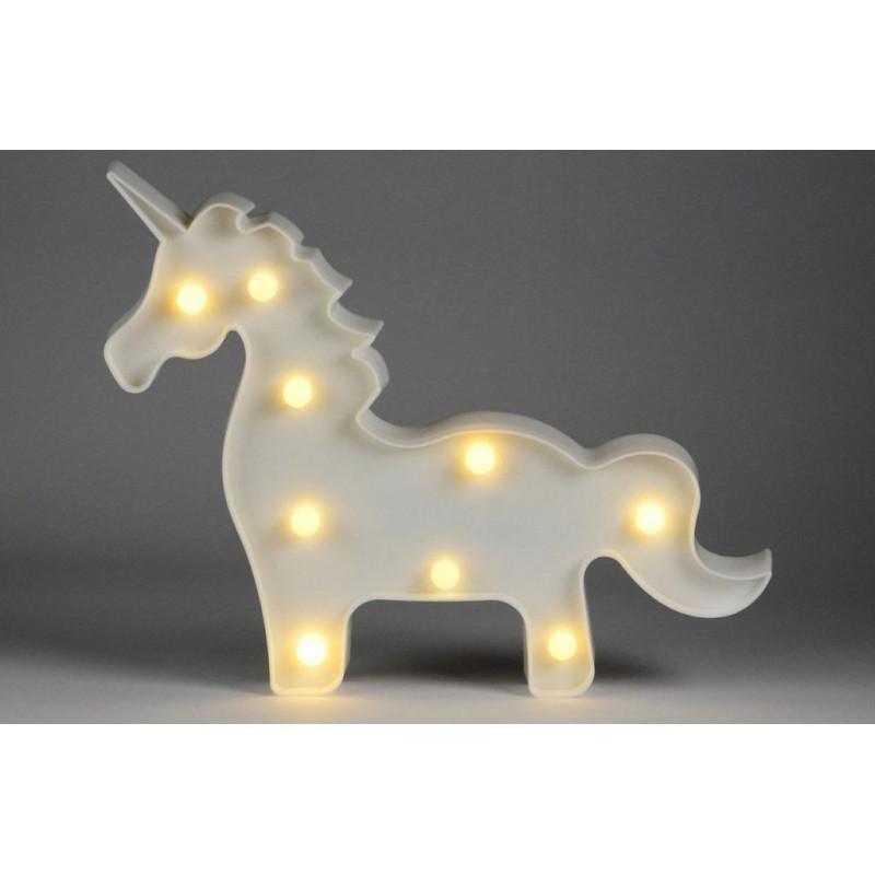 Vánoční dekorativní osvětlení - jednorožec - 9 LED teple bílá
