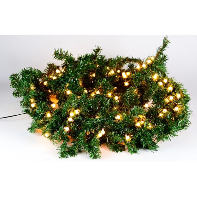 Vánoční dekorace - girlanda s osvětlením 2,7 m - 200 LED teple bílá