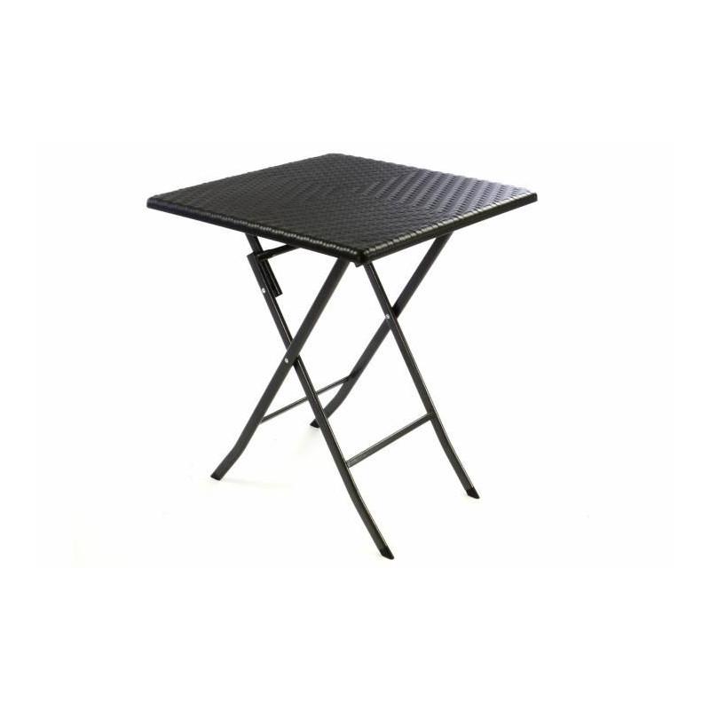 Skládací zahradní stůl ratanového vzhledu 75 x 61 x 61 cm