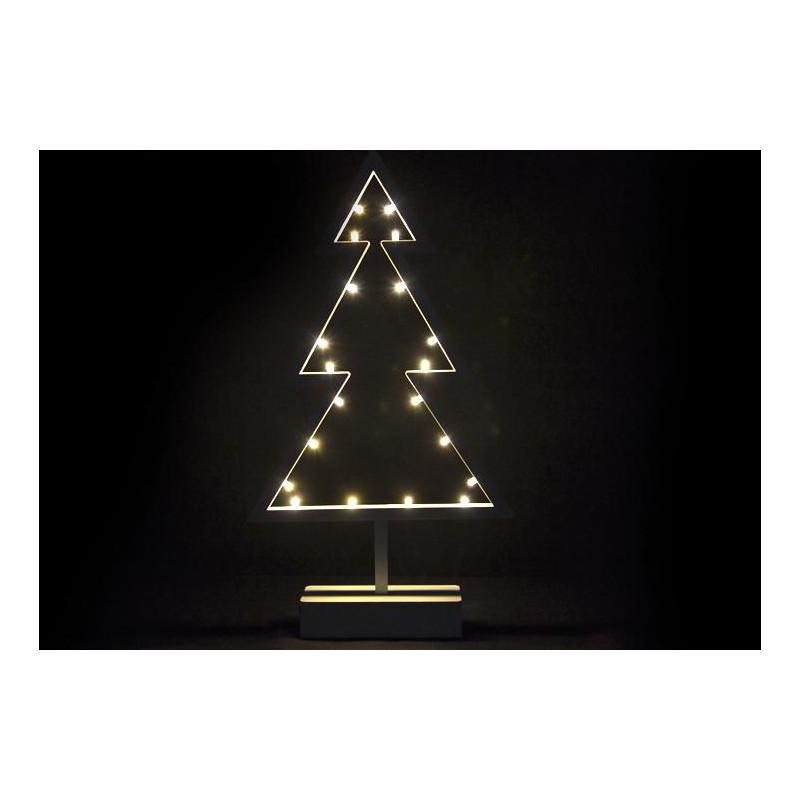 Vánoční dekorace - stromek na stojánku - 38 cm,  20 LED