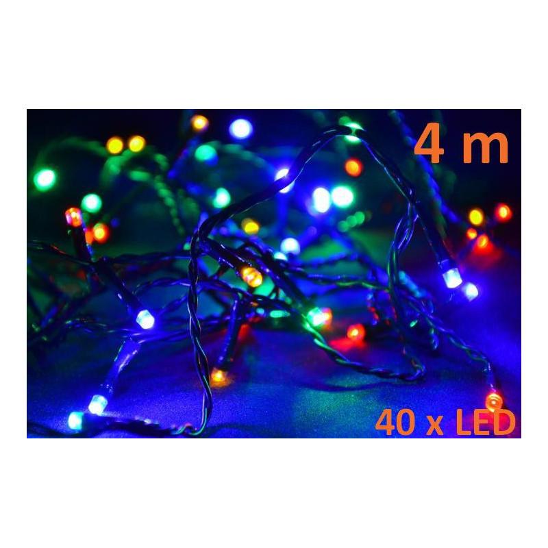 Vánoční LED osvětlení 4m - barevné, 40 diod