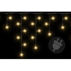 Vánoční světelný déšť 200 LED teple bílá - 4 m