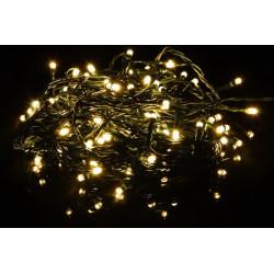 Vánoční LED osvětlení 20 m - teple bílé 200 LED s časovačem