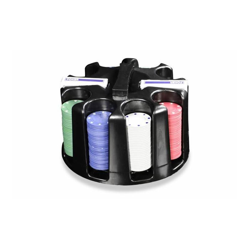 Poker set  200ks - Caddy - Otočný plastový stojan na žetony