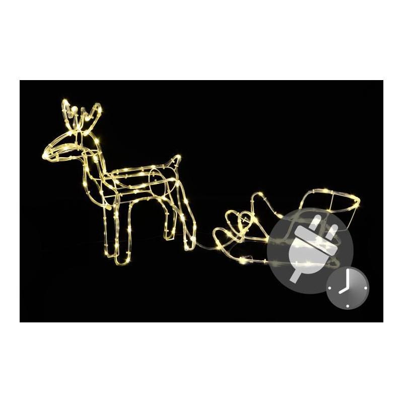 Svítící vánoční sob - LED světelná dekorace - 80 cm