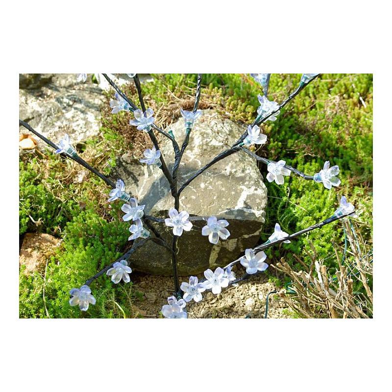 Zahradní květinový strom Garth s 36 LED diodami a solárním panelem teple bílé LED diody