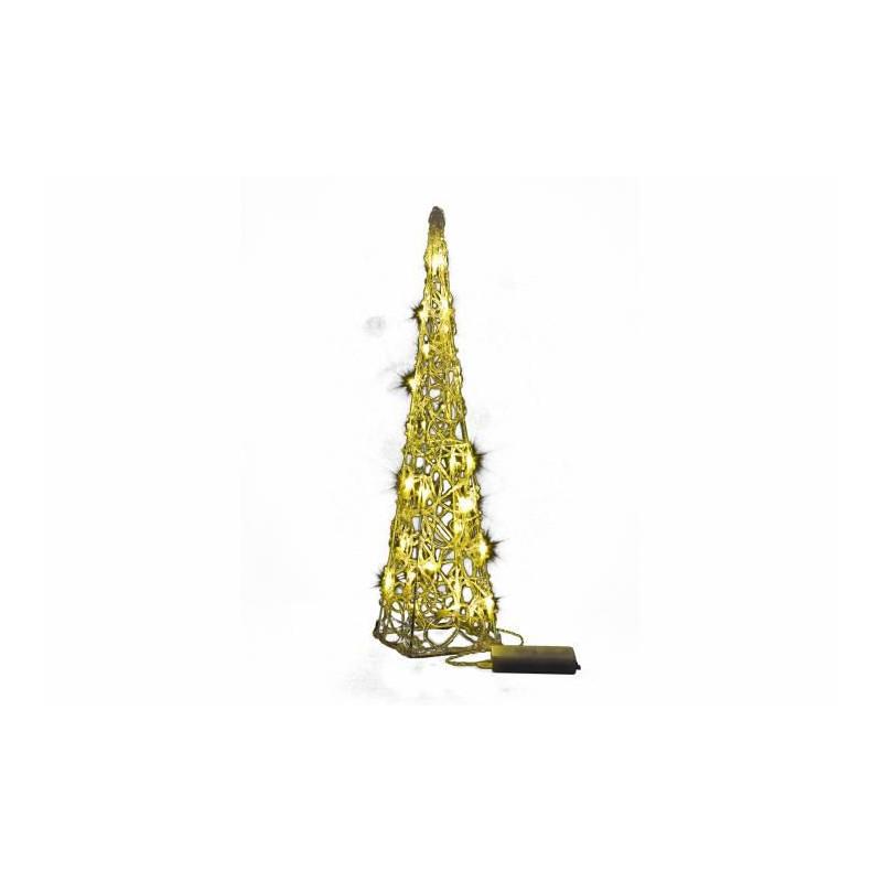 Vánoční dekorace - Akrylový kužel - 60 cm, teple bílé + trafo
