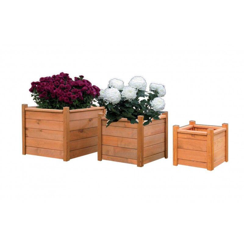 Dřevěný dekorativní květináč 40 x 40 cm