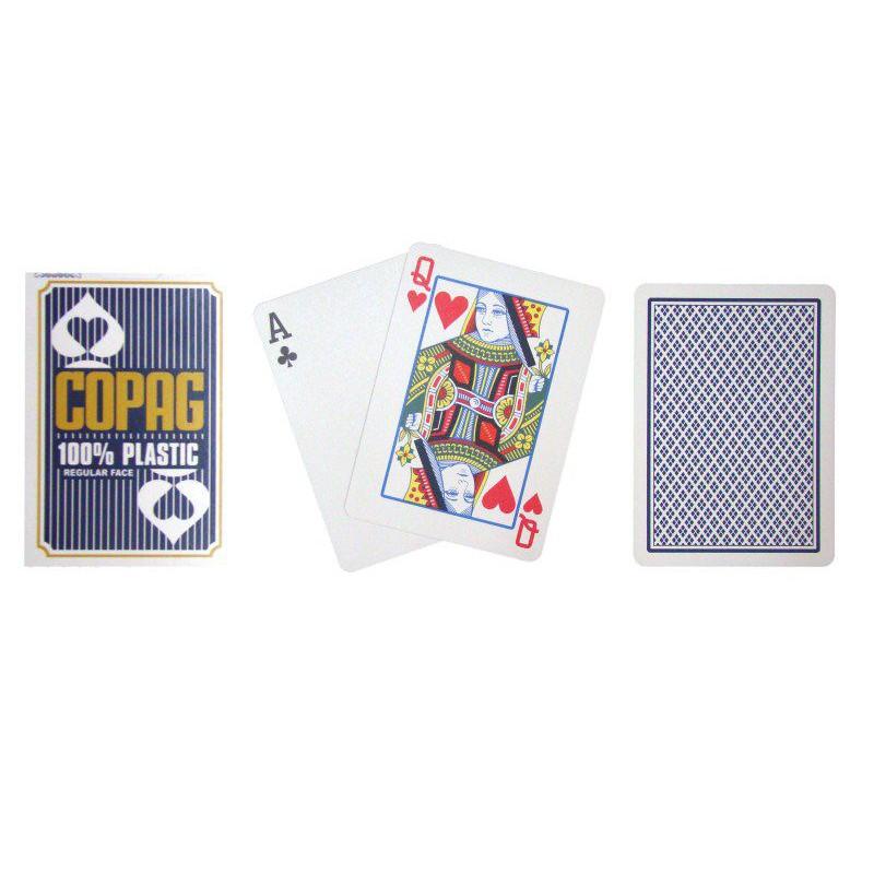 Poker karty Copag Regular 2 rohy modré