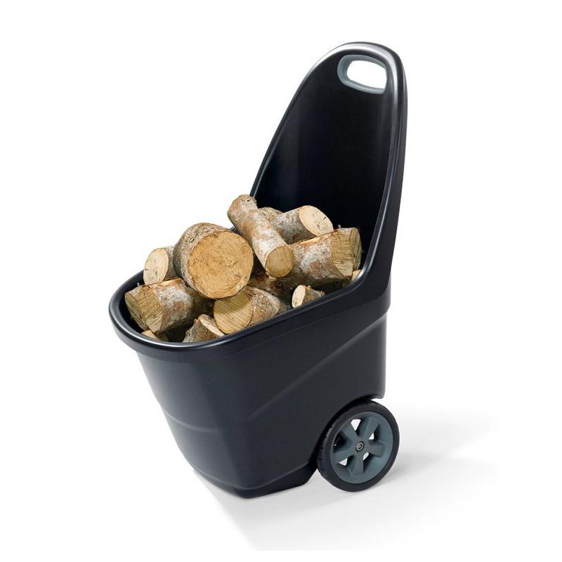 Zahradní plastový vozík XL - EASY GO 62L černý