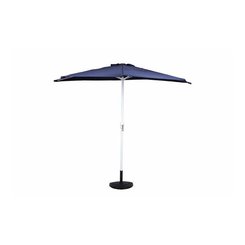 Půlkruhový zahradní slunečník - tmavě modrý - 2,7m