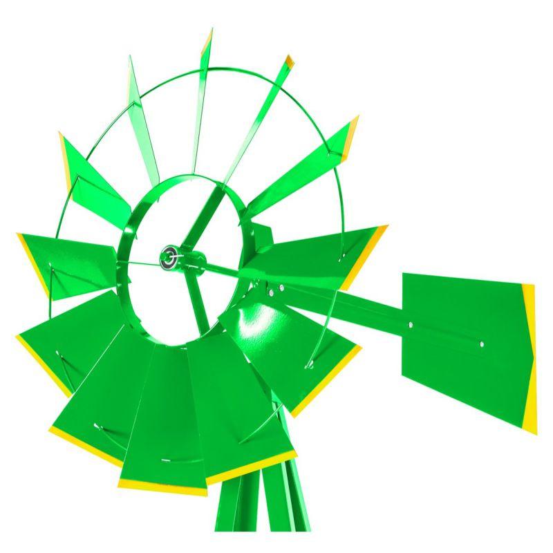 Větrný mlýn v US stylu - zelená 245 cm