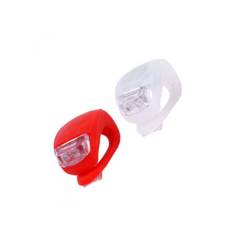 Silikonová svítidla na kolo - 2ks