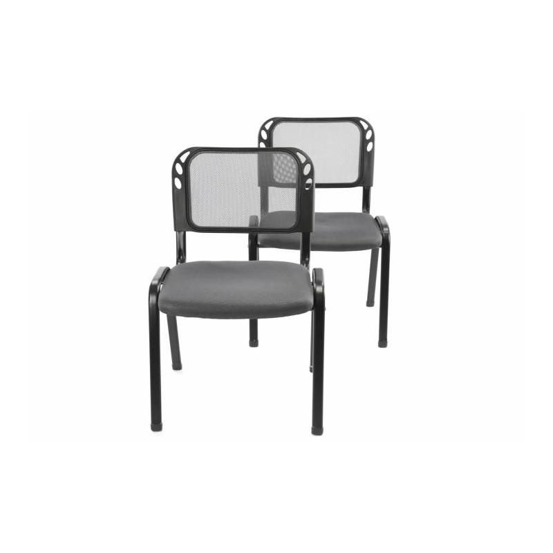 Sada stohovatelné kongresové židle 2 kusy - šedá
