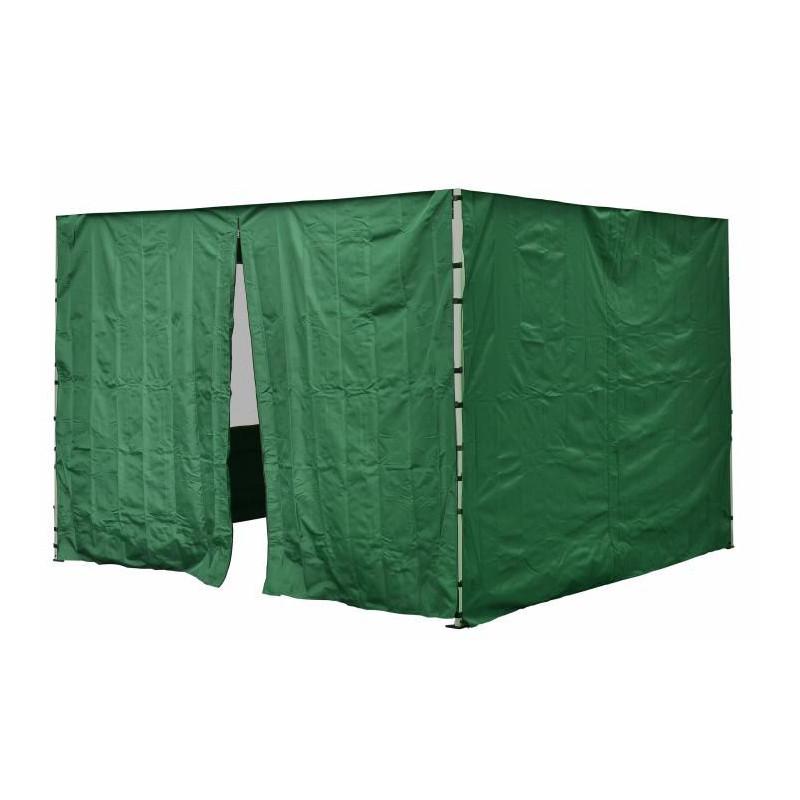 Sada 2 bočních stěn pro PROFI zahradní stan 3 x3 m zelená