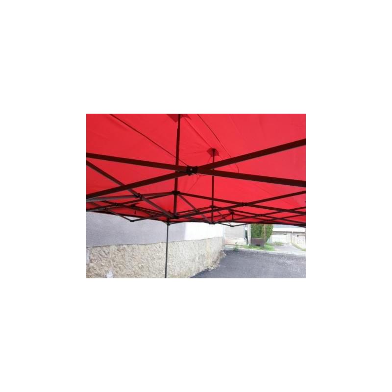 Zahradní párty stan DELUXE nůžkový - 3 x 3 m červená