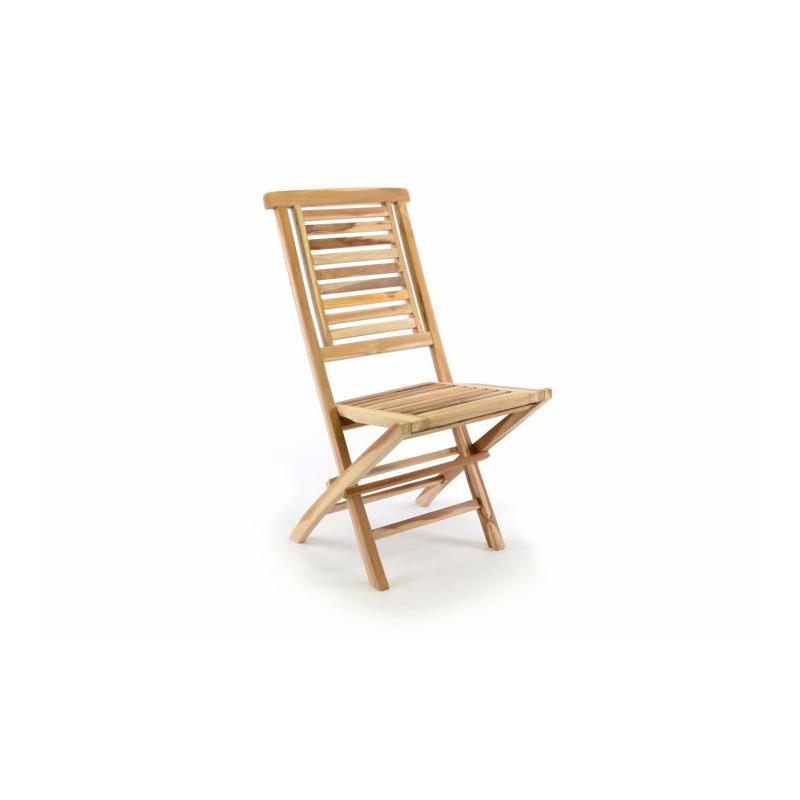 """Zahradní židle skládací DIVERO \""""Hantown\"""" z masivního týkového dřeva"""